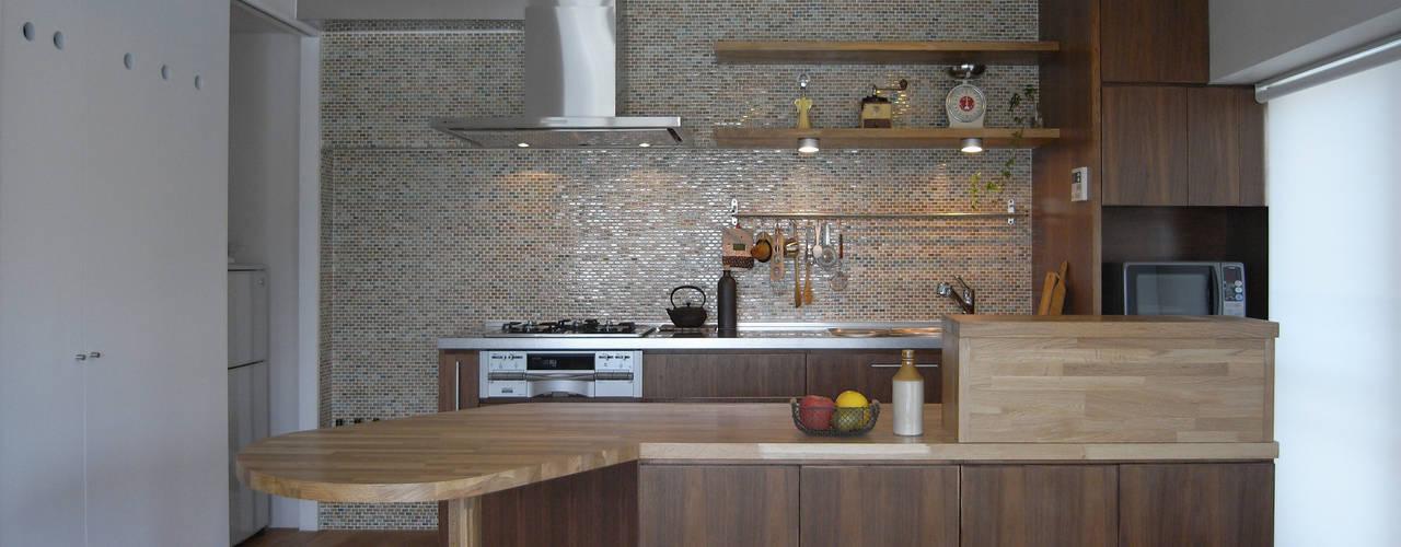 Cozinhas escandinavas por ヤマトヒロミ設計室 Escandinavo