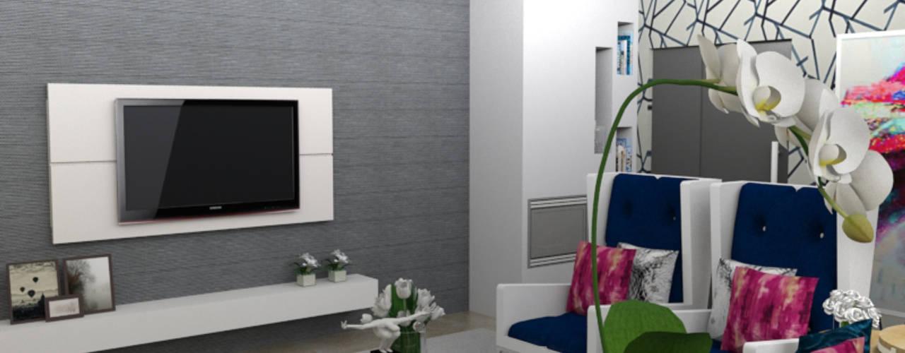 Habitação Unifamiliar por Palma Interiores Moderno