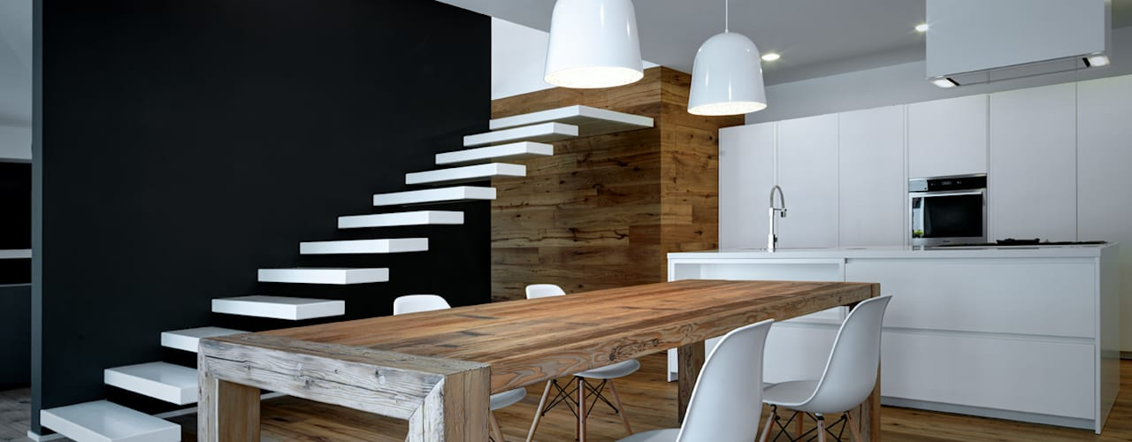 Dining room by EV+A Lab Atelier d'Architettura & Interior Design, Modern