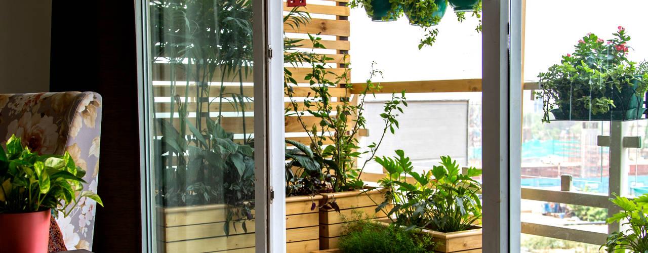 Studio Earthbox Kırsal Balkon, Veranda & Teras