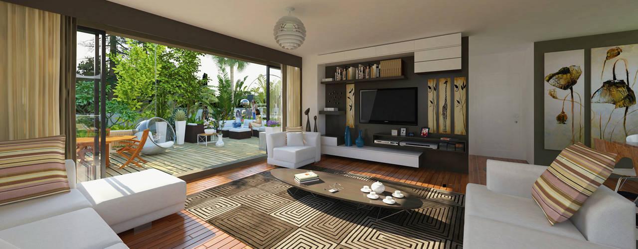 modern Living room by apak mimarlık