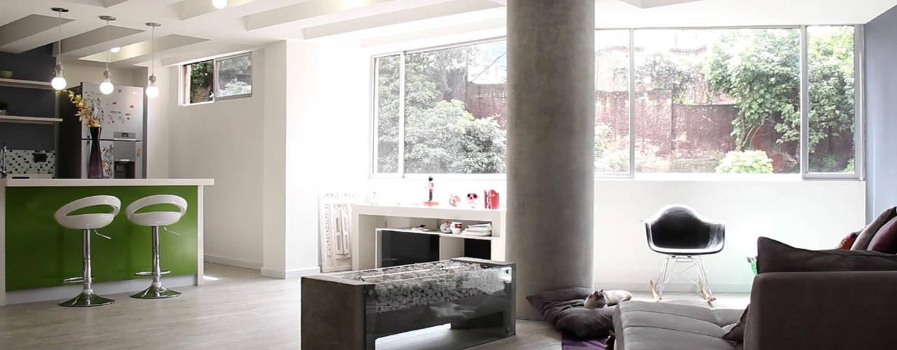 Salas / recibidores de estilo  por santiago dussan architecture & Interior design