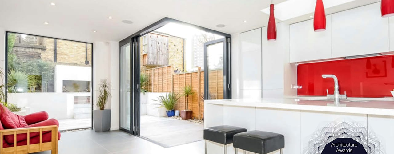 Herne Hill, Lambeth SE24, London | Rear house extension Modern bathroom by GOAStudio | London residential architecture Modern