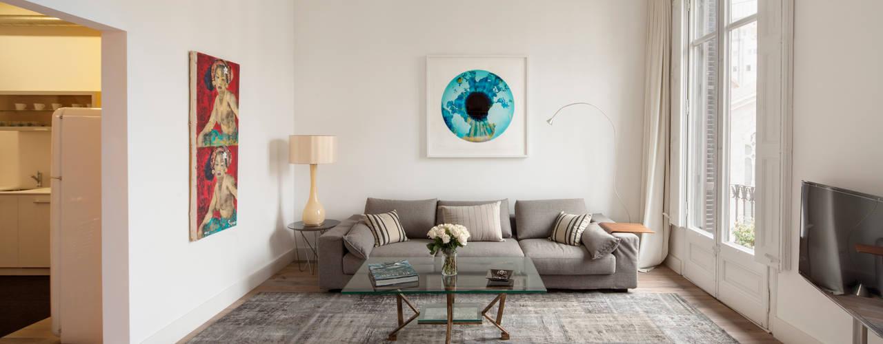 Minimalist Oturma Odası Alex Gasca, architects. Minimalist