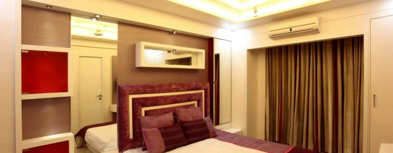 Bharat Bhanushali:  Bedroom by PSQUAREDESIGNS