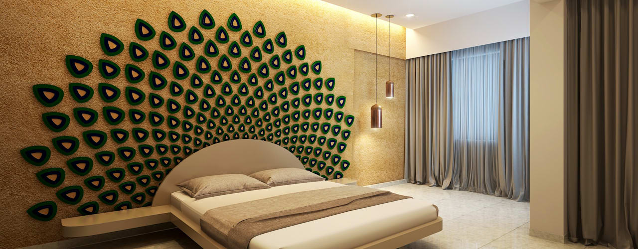 Camera da letto moderna di jyotsnarawool Moderno