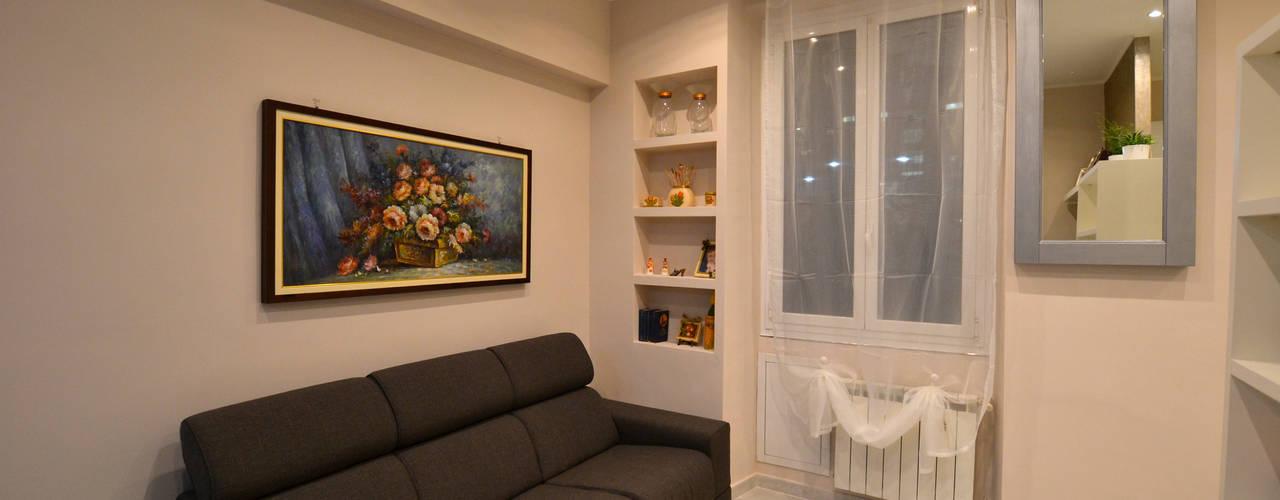 Nowoczesny salon od ARCHITETTO LAURA LISBO Nowoczesny