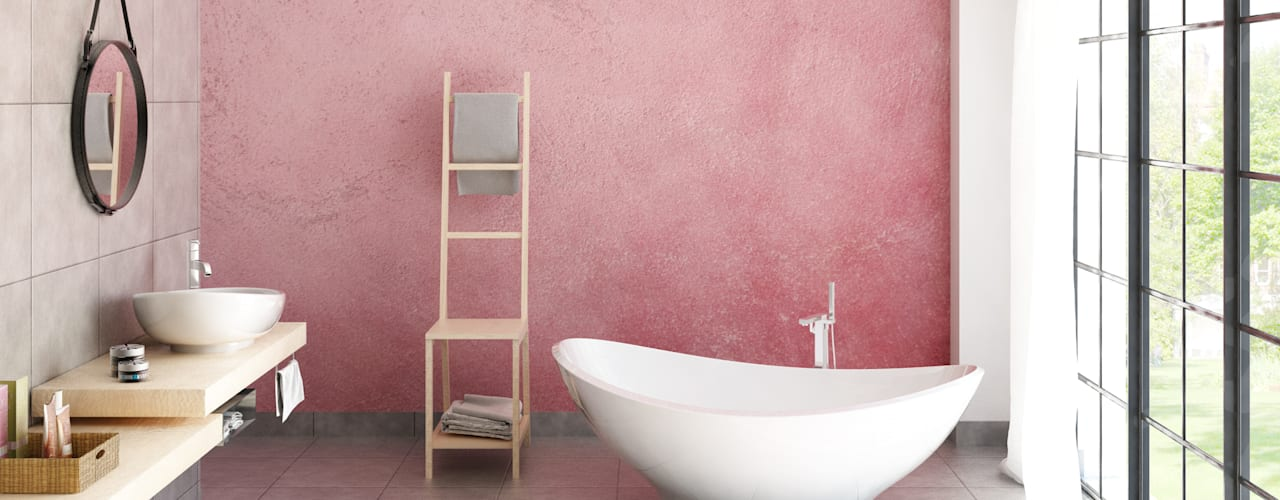 Elisabetta Goso >architect & 3d visualizer< Industrial style bathrooms Pink