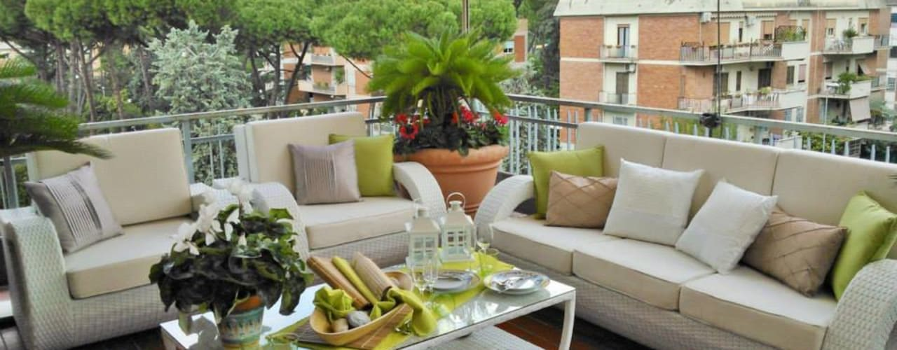 Projekty,  Taras zaprojektowane przez Loredana Vingelli Home Decor