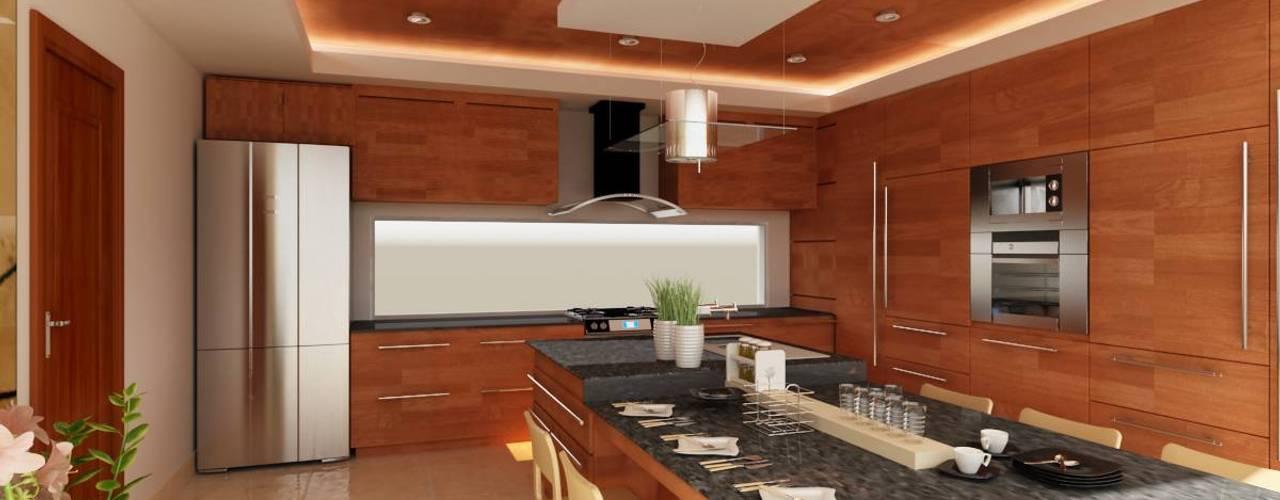 Cocinas de estilo moderno por OLLIN ARQUITECTURA