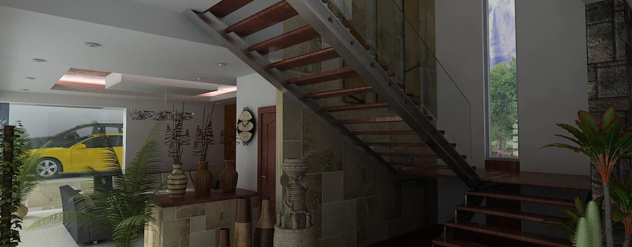 Corridor & hallway by OLLIN ARQUITECTURA , Modern
