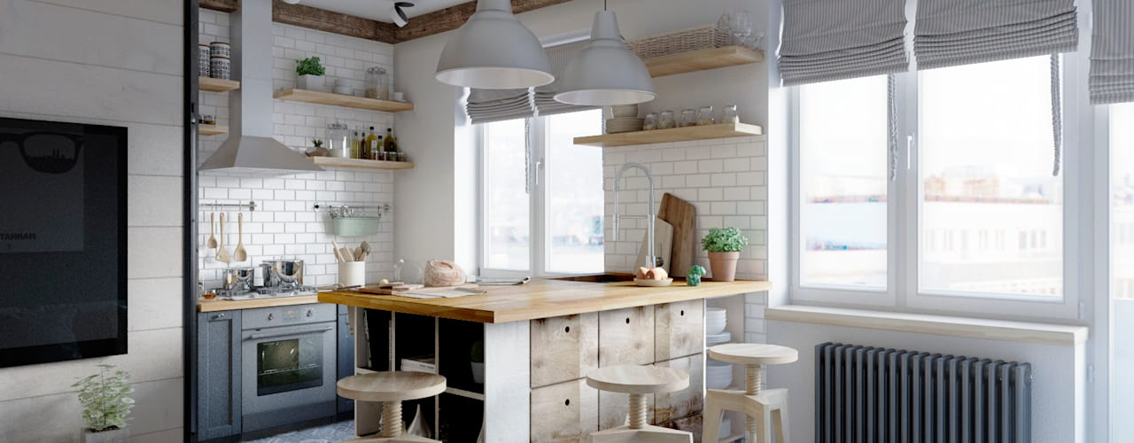 Scandinavian style kitchen by Elena Arsentyeva Scandinavian