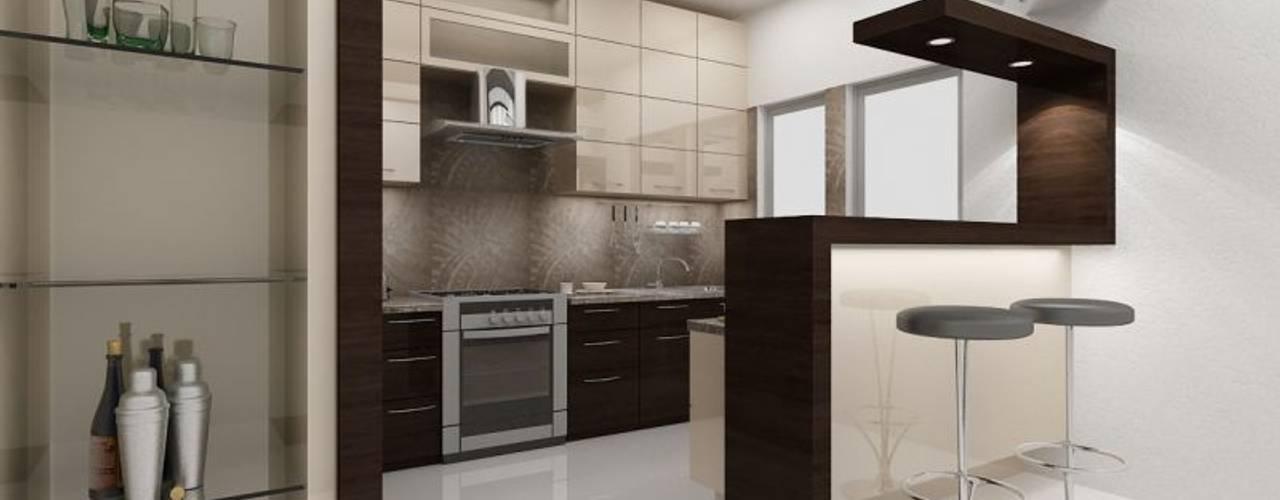 Projekty,  Kuchnia zaprojektowane przez ACE INTERIORS