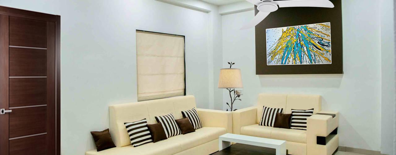 3 BHK Sample Flat Modern living room by ZEAL Arch Designs Modern