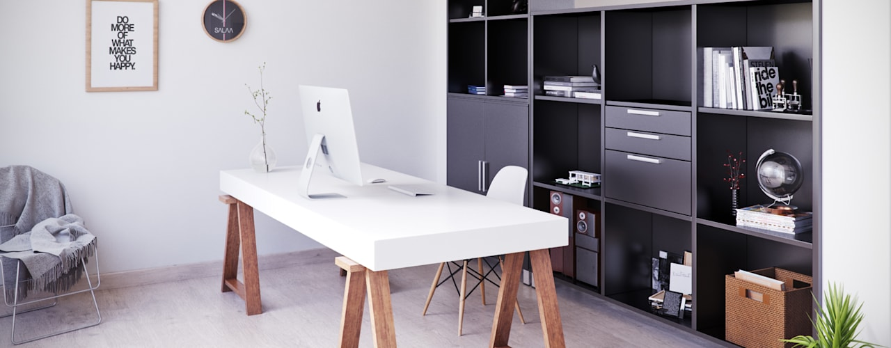 Home Office: Estudios y despachos de estilo  de SALA VISCOM