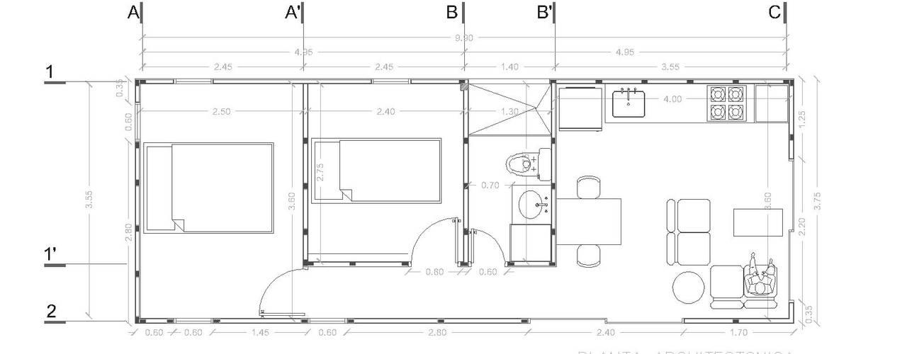 Casas modernas de COLECTIVO CREATIVO Moderno