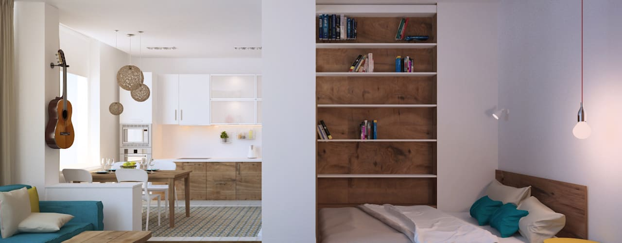 Tatyana Pichugina Designが手掛けた寝室, 北欧