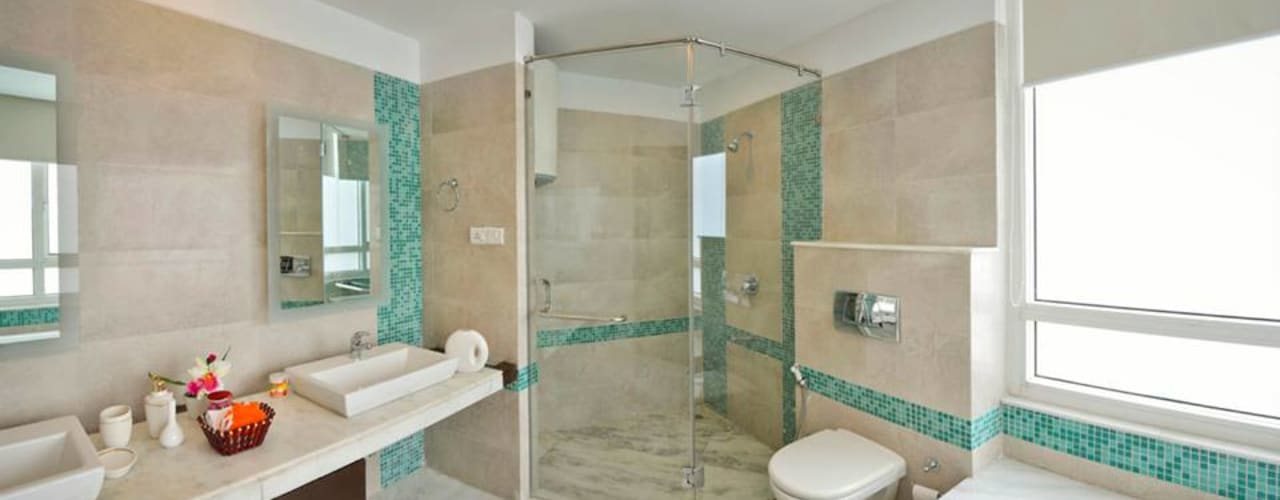 J. P. GREENS FLAT: modern Bathroom by Spaces Architects@ka