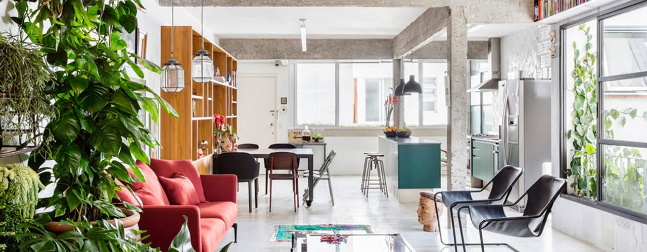 minimalistische Woonkamer door RSRG Arquitetos