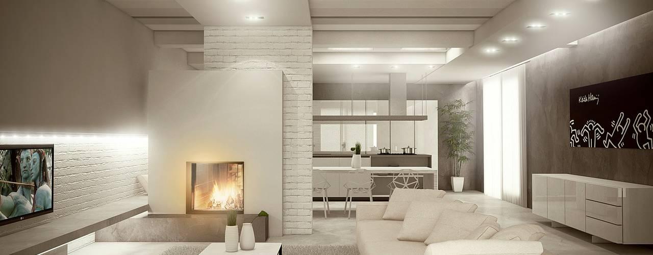 غرفة المعيشة تنفيذ Giuseppe DE DONNO - architetto