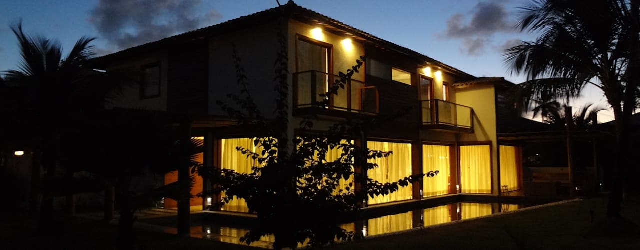 Casas de estilo rústico de Tupinanquim Arquitetura Brasilis Rústico
