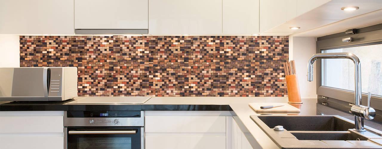 Önwall. Handmade wood mosaic tiles. de Önwall Moderno