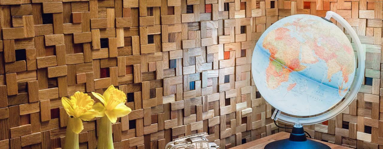 Önwall. Handmade wood mosaic tiles. od Önwall Klasyczny