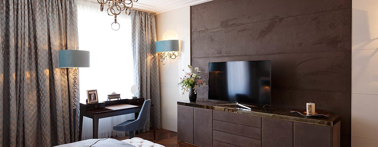 Квартира на Кемской: Спальни в . Автор – Юдин и Новиков