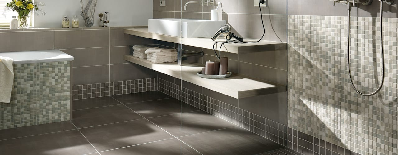Anti Slip Mosaic Tiles Modern bathroom by The Mosaic Company Modern