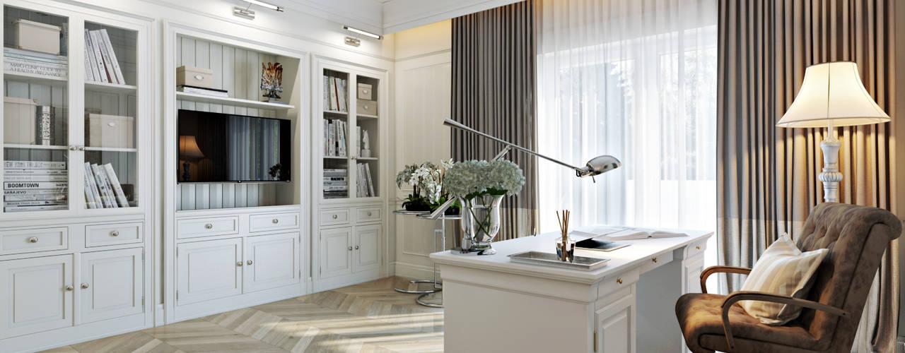 Кабинет: Рабочие кабинеты в . Автор – Дарья Баранович Дизайн Интерьера