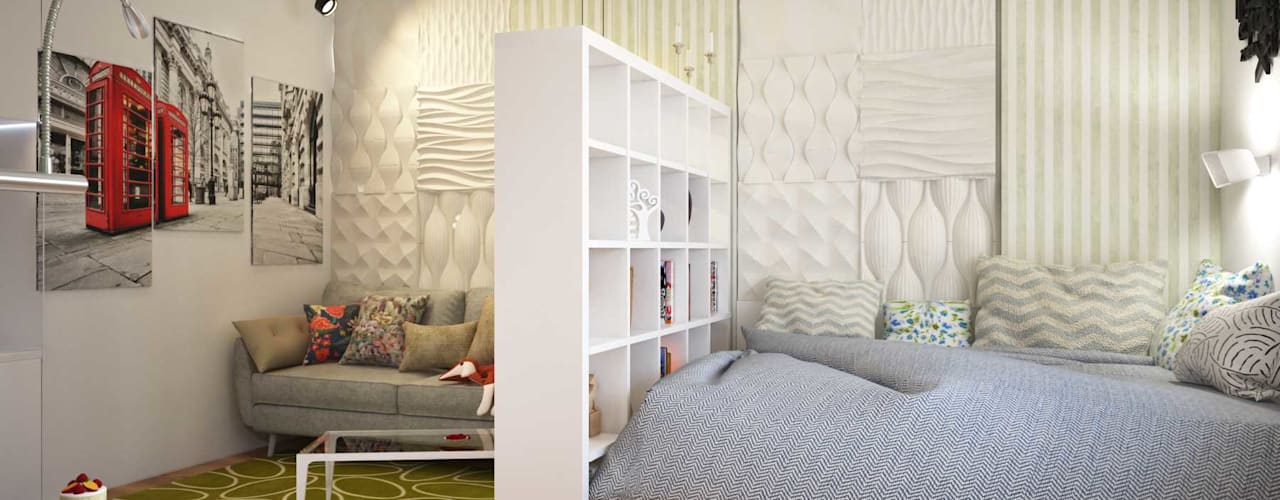 Студия в Новокосино Спальня в скандинавском стиле от Pure Design Скандинавский