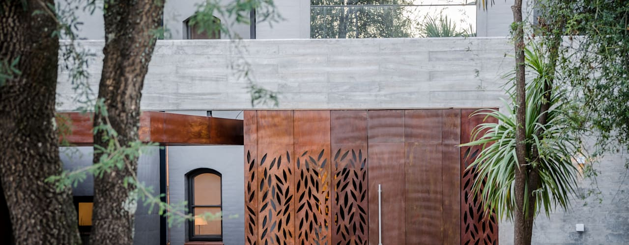 BLOS Arquitectos Modern Windows and Doors Copper/Bronze/Brass