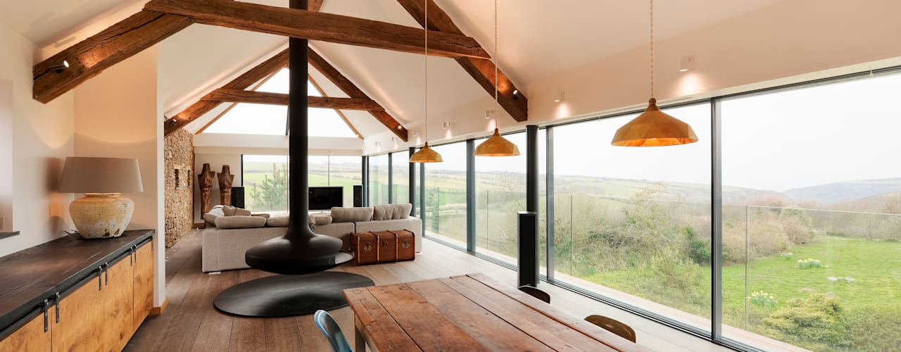 Down Barton, Devon Modern kitchen by Trewin Design Architects Modern