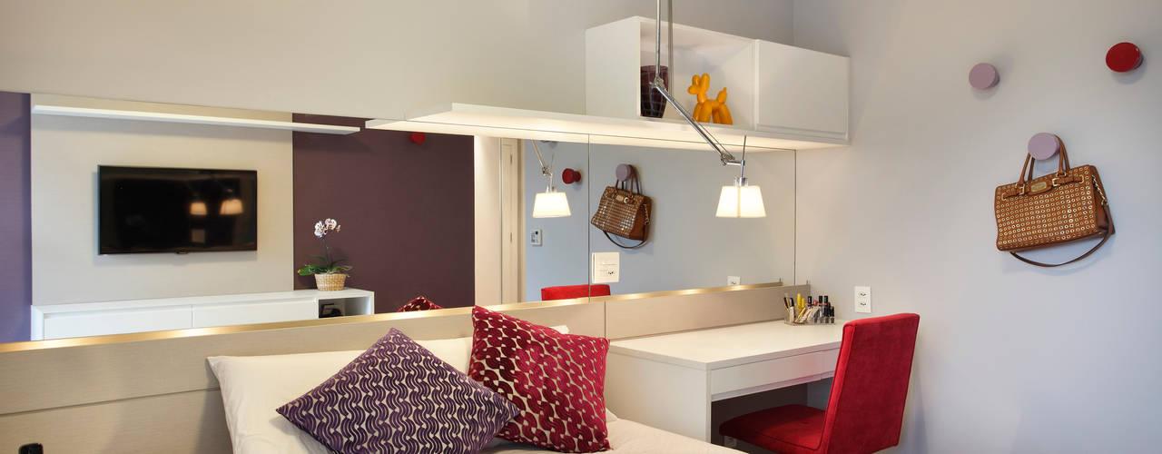 غرفة نوم تنفيذ Isabela Lavenère Arquitetura