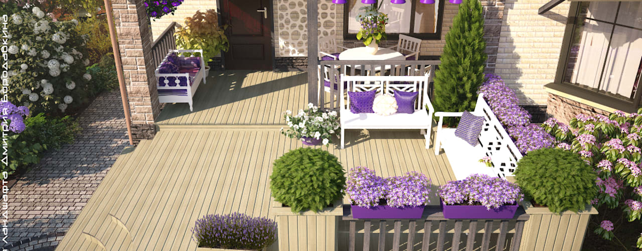 Scandinavian style garden by Мастерская ландшафта Дмитрия Бородавкина Scandinavian