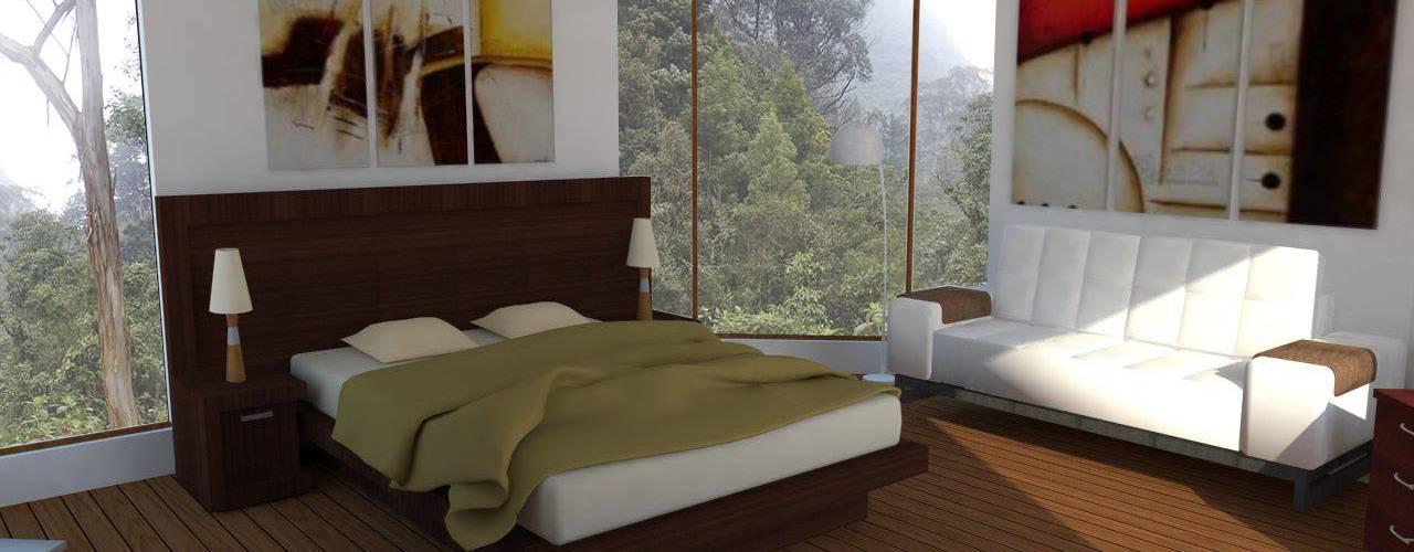 Modern Bedroom by Trianaarquitectos Modern