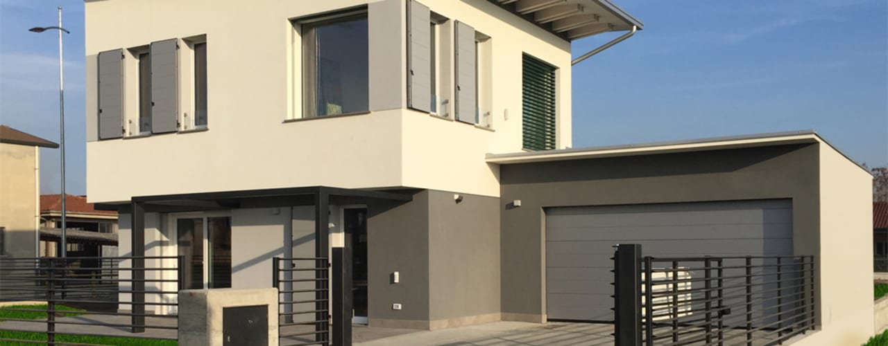 Casas de estilo moderno por Marlegno