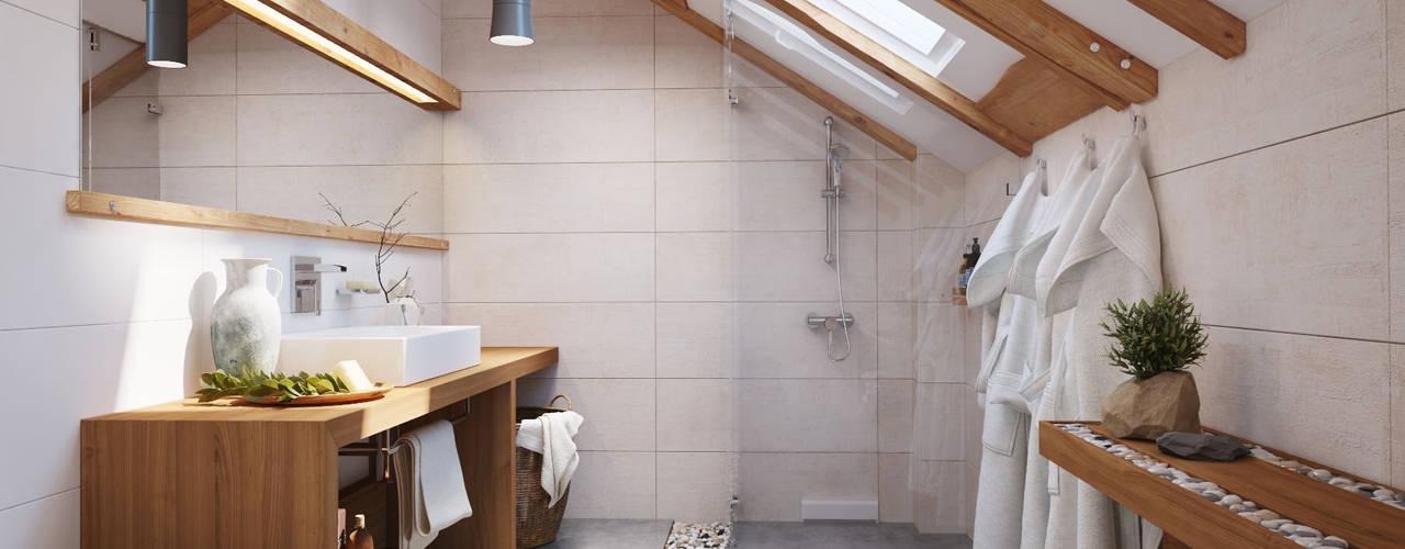 Casas de banho escandinavas por Polygon arch&des Escandinavo