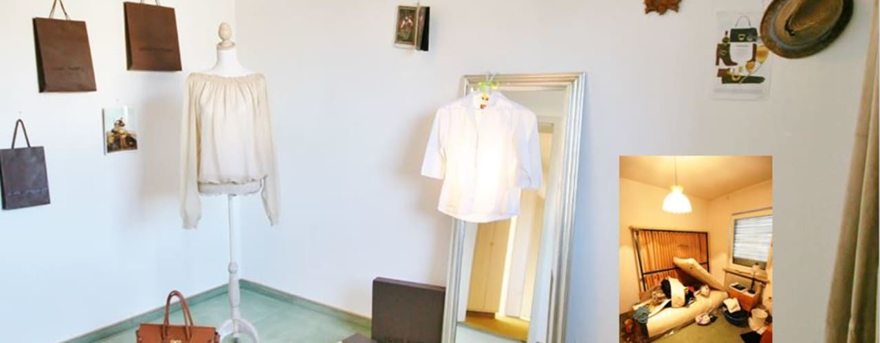 Dressing room by Münchner home staging Agentur GESCHKA, Eclectic