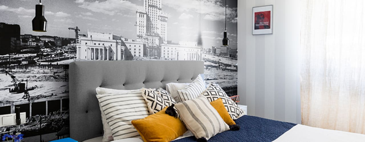 Dagmara Zawadzka Architektura Wnętrz Dormitorios de estilo ecléctico