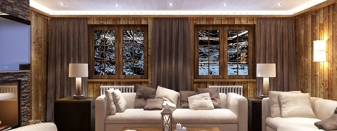 landhausstil Wohnzimmer von Alexander Krivov