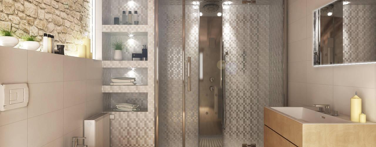 Baños de estilo rústico de Architetto Luigia Pace Rústico