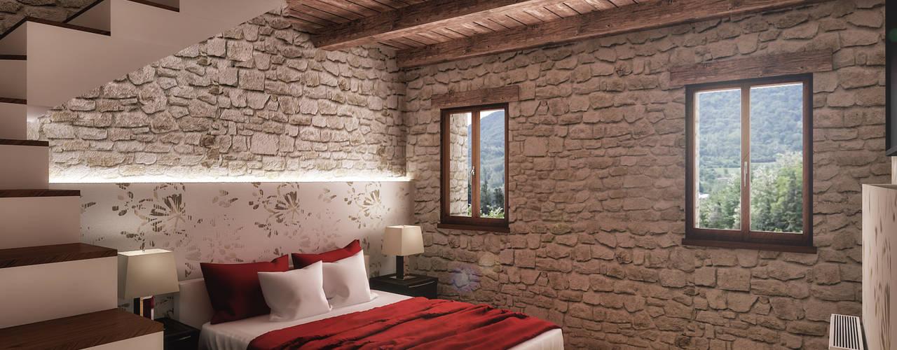 Cuartos de estilo rústico de Architetto Luigia Pace Rústico