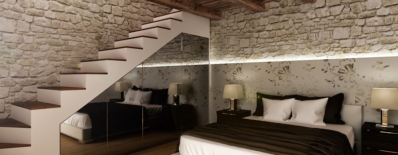 Bedroom by Architetto Luigia Pace, Rustic