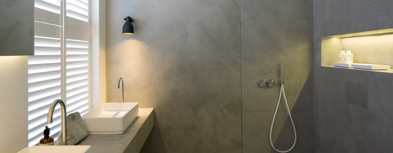 BIDDULPH MANSIONS, MAIDA VALE Baños de estilo moderno de Ardesia Design Moderno