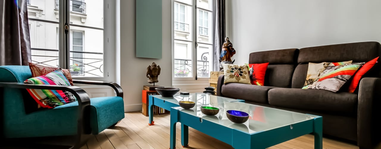 Appartement et Carreaux de Ciment: Salon de style  par ATELIER FB, Moderne