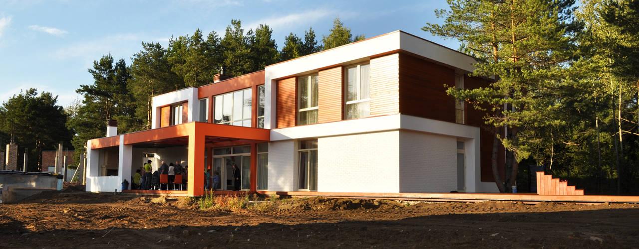 Проект современного жилого дома в Москве: Дома в . Автор – Sboev3_Architect