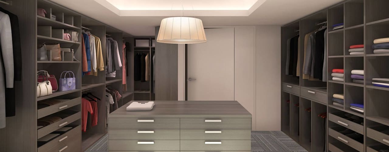 Eclectic style dressing rooms by KorteSa arquitectura Eclectic