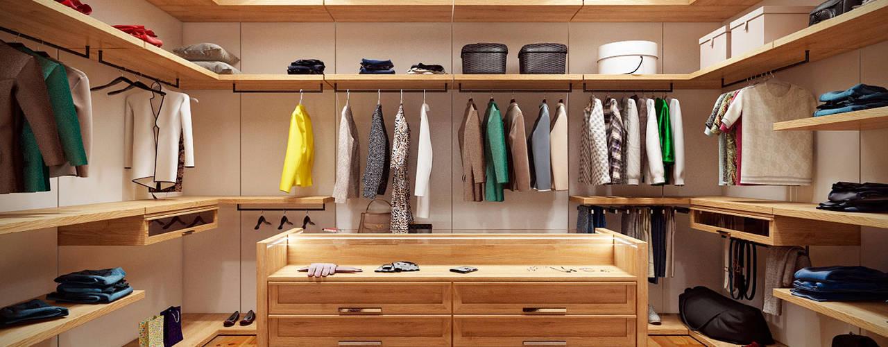Closets de estilo escandinavo de Artichok Design Escandinavo