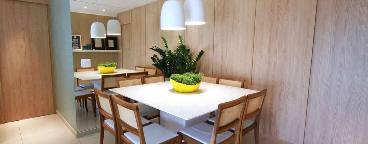 Projekty,  Jadalnia zaprojektowane przez MeyerCortez arquitetura & design